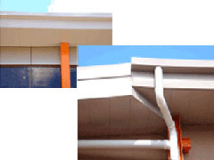 Soffits - Inverted standing seam eave panels